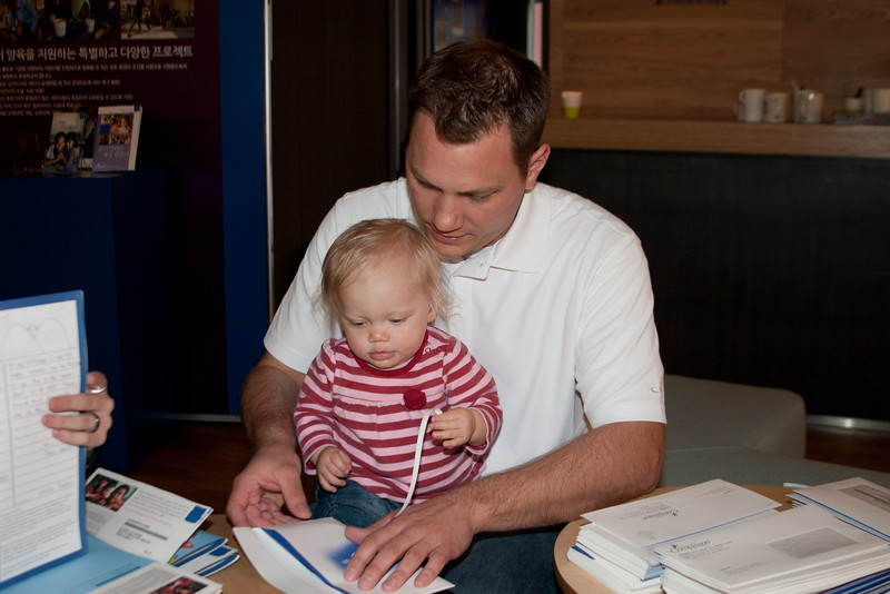 Even Baby Olivia is helping out.  Way to go, Olivia.