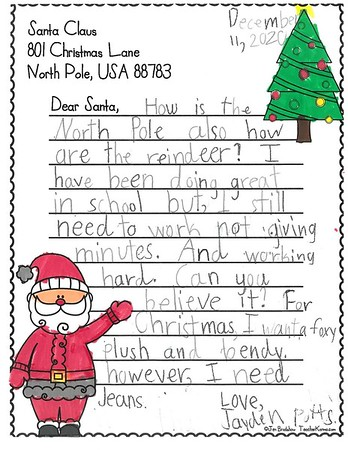 Mrs. Tolbert's Second Grade Letters to Santa