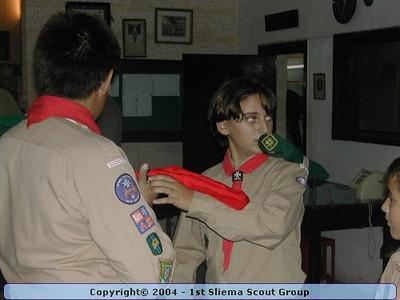 2003-10-03 Troop Investiture