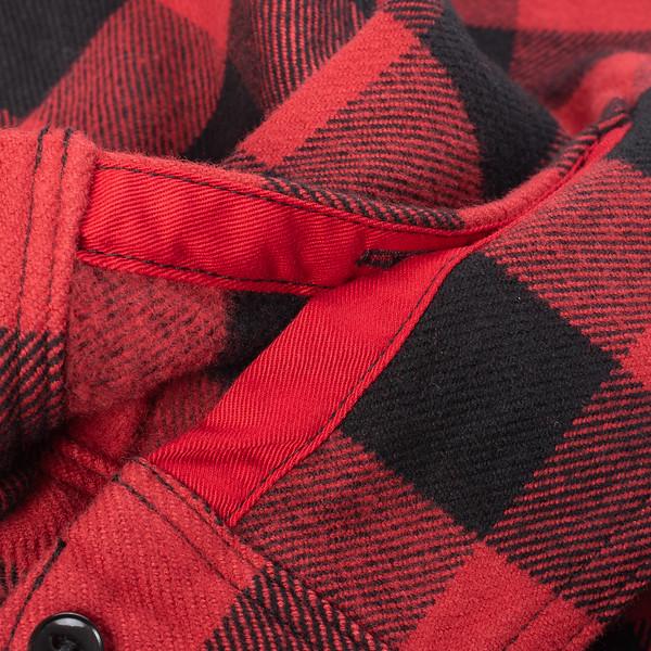 Ultra Heavy Flannel Buffalo Check Work Shirt - Red-Black-25531.jpg