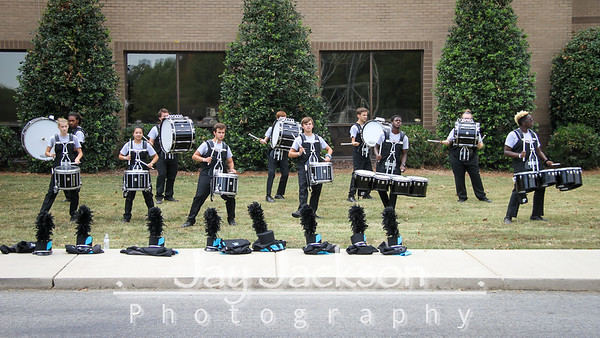 2019 09 28 Competition - Mount Pleasant - Percussion Warm-Up