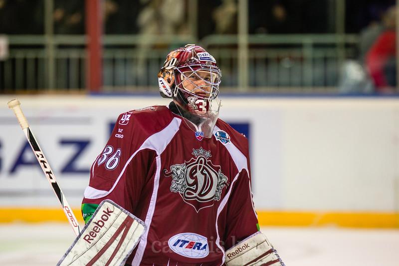 Dinamo Riga vārtusargs goalkeeper Jakub Sedlacek (36) pēc spēles