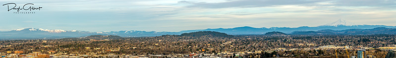 Mount St. Helens to Mount Hood Panorama