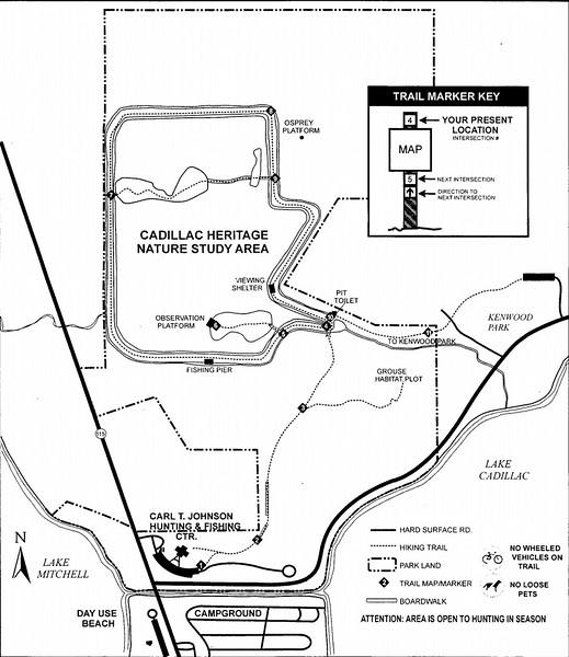 (William) Mitchell State Park (Trail Map)