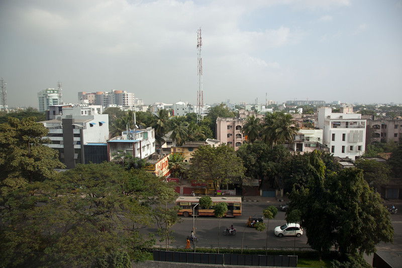 View from our Hotel, Chennai.