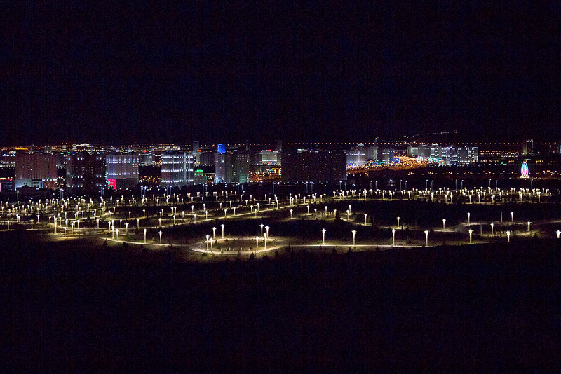 Ashgabat Turkmenistan at night