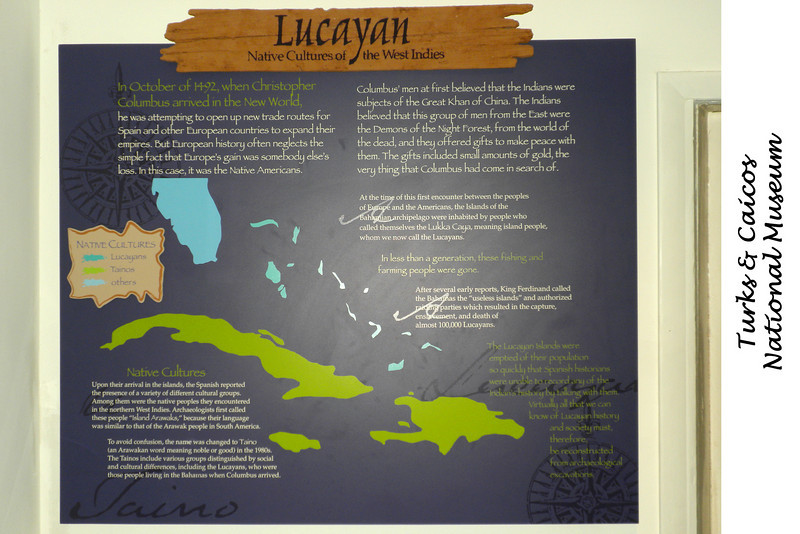 Exhibits in the Turks & Caicos National Museum - Cockburn Town, Grand Turks - The Lycayan were the original inhabitants of the Caicos and Turk Islands