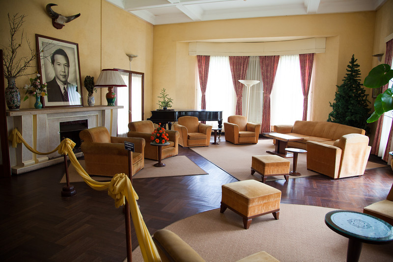 The receiving lounge in Bao Dai's summer palace (Dinh Bao Dai).