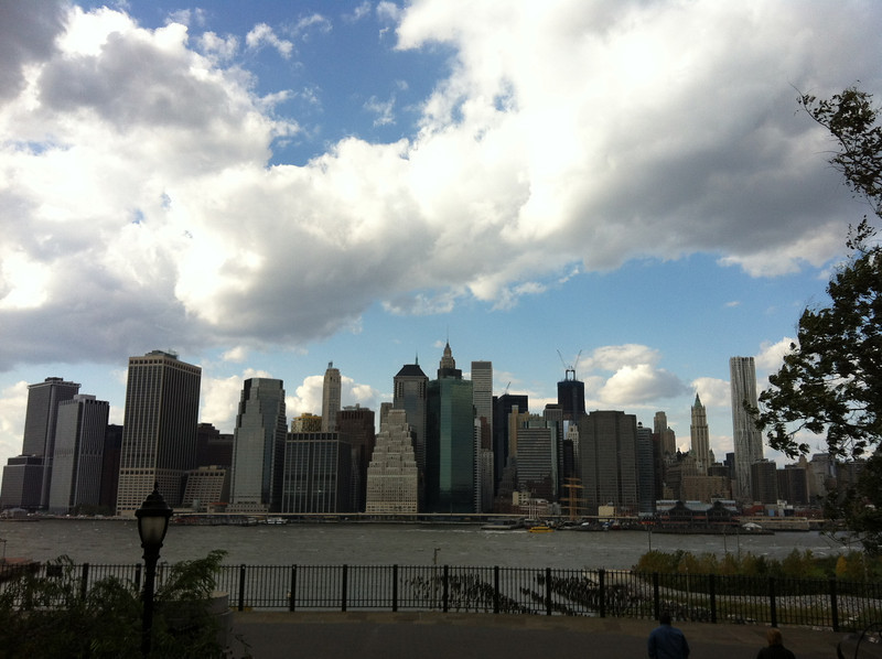 The East River looking at Manhattan from the Brooklyn Heights Promenade