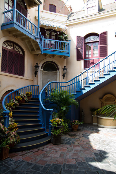 Staircase behind New Orleans Square