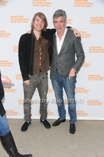 """John Barrett McInerney III and Jay McInerney  attend the screening of """"The Capote Tapes"""" at the Hampton International Film Festival at the UA Cinema in Southampton on October 12, 2019. photo by Rob Rich/SocietyAllure.com"""