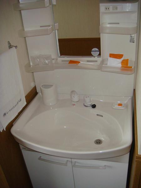 Sink inside a room in Yakushima, Japan