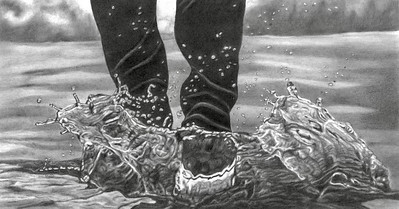 """Stompa"" (graphite) by Elizabeth Dillman"