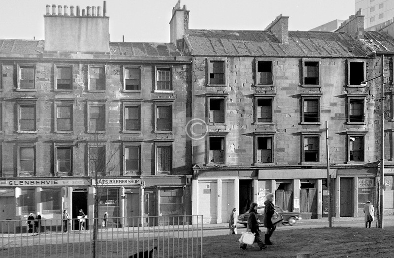 Gorbals St, part of the east side south of Cleland St.  