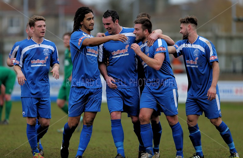 CHIPPENHAM TOWN V HITCHIN TOWN MATCH PICTURES 28th Feb 2015
