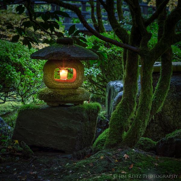 Stone lantern at Portland Japanese Garden