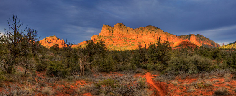 "Sedona. View from Bell Rock Pathway #1. 37"" x 15""."