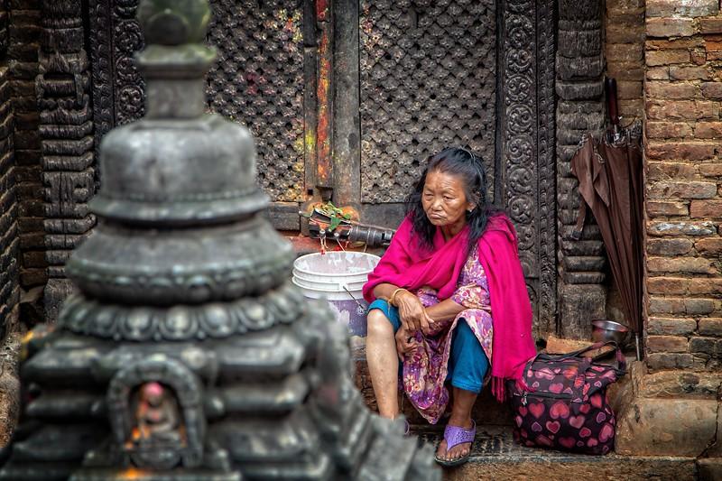 A local woman, Swayambhunath Stupa, Kathmandu, Nepal