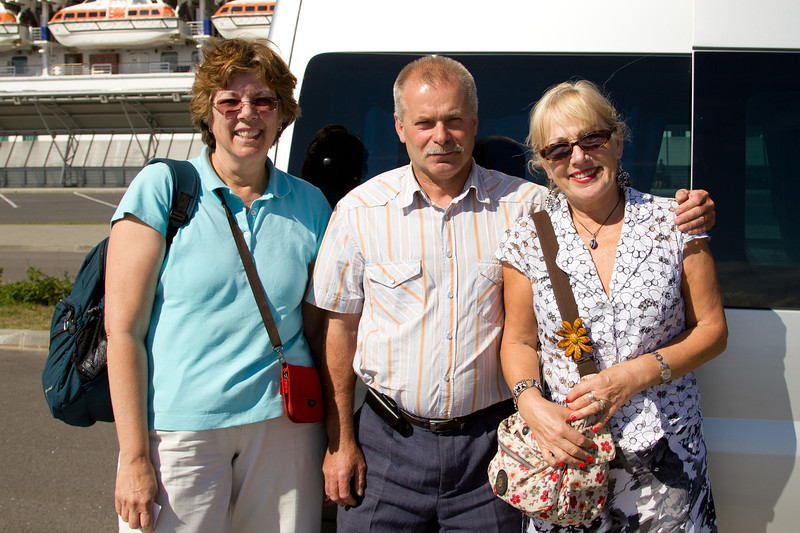 Our exceptional tour guide and driver.  http://www.spb-tours.com/st-petersburg/en/