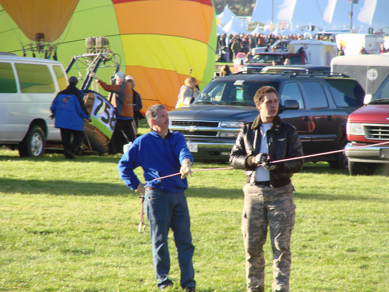 Crewing for the American Flag Balloon Fiesta