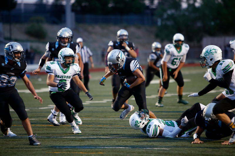 The first quarter of the Capital High School vs Pojoaque Valley High School at Capital on Friday August 24, 2018. Luis Sánchez Saturno/The New Mexican