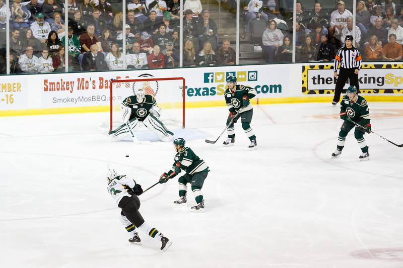 Texas Stars vs Iowa Wild - October 11, 2014.  Stars win 4-2 in season opener.