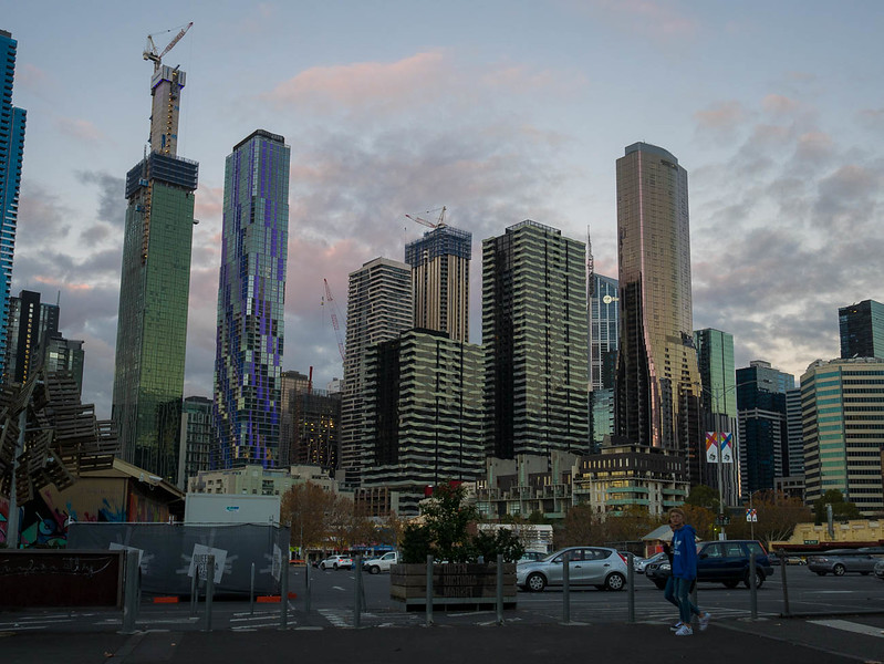 Melbourne skyline. Changing fast.