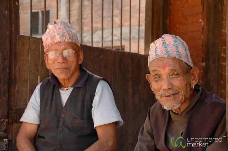 Smiles from the Elders - Bakhtapur, Nepal