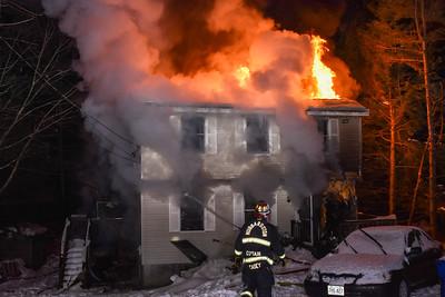 3 Alarm Structure Fire - Abernaki St, Hubbardston, Ma - 2/13/21