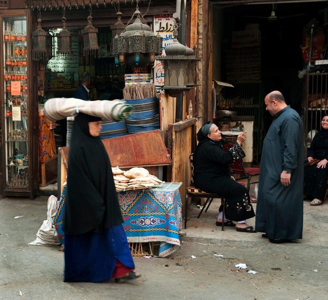 Street scene in Islamic Cairo.  Cairo, Egypt, 2010.