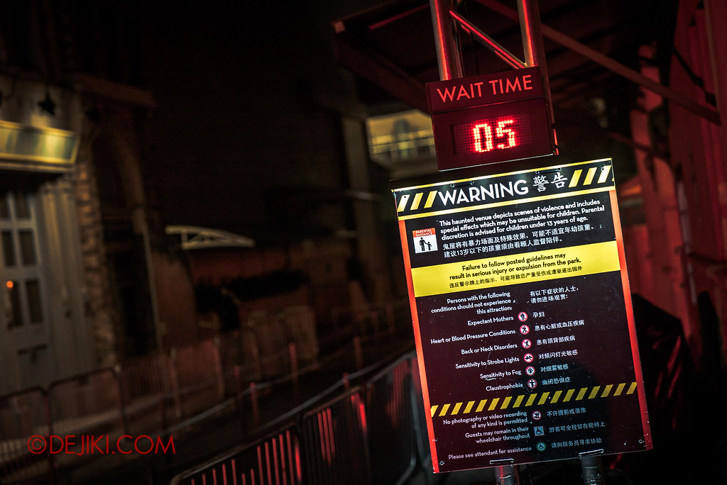 Halloween Horror Nights 7 Survival Guide - 5 minute wait at DEATH Mall at 12:20am