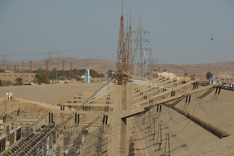 Electrical Infrastructure near the Aswan High Dam, Egypt