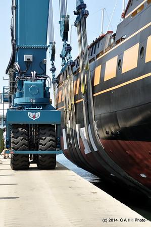 2014.8.11 OHP Launch  at Newport Shipyard