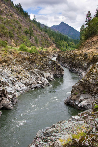 The Barrel Eddy (lower right) offer the last chance to gather your wits before running Coffeepot Rapid.