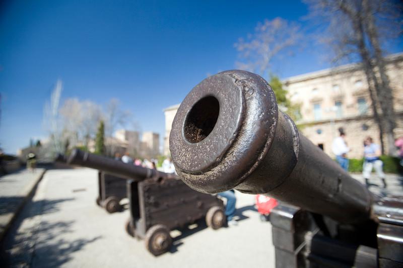 Old cannon, Charles V Palace, Granada, Spain