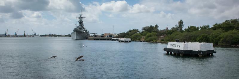 USS Missouri battleship from Arizona Memorial