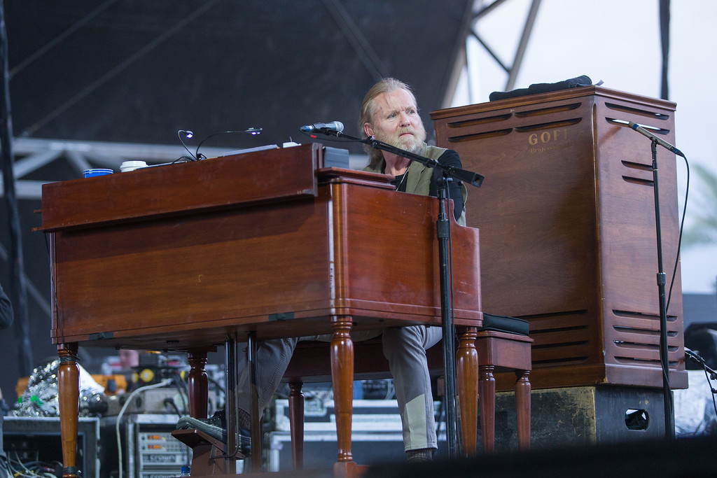 . Gregg Allman performs on stage during the 2015 Stagecoach Festival at the EmpireClub on Saturday, April 25, 2015, in Indio, Calif. (Photo by Paul A. Hebert/Invision/AP)