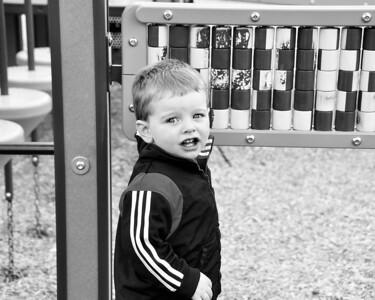 At the playground - June 2010