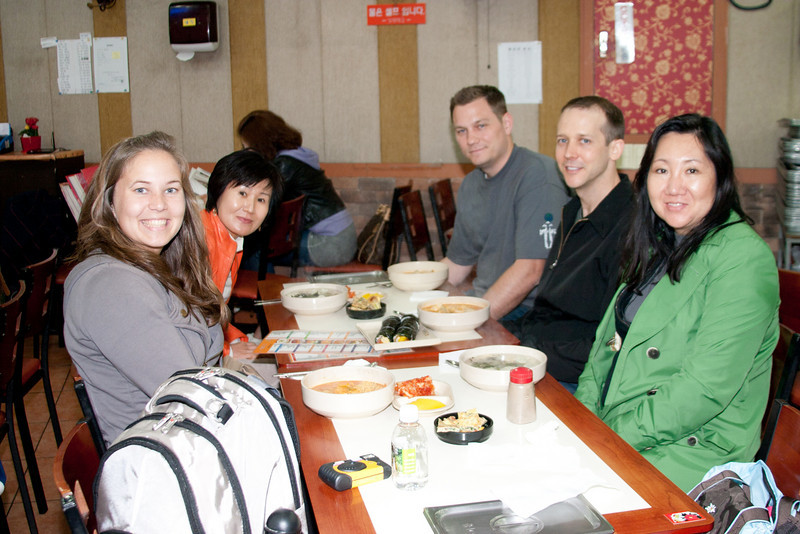Our 1st dinner in Korea with Stella's mom who lives in Korea