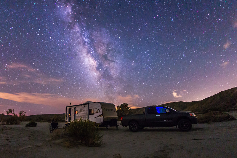 Camping under the stars in Anza-Borrego Desert State Park. Take 2.
