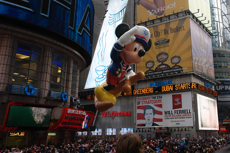 MICKEY MOUSE THE SAILOR Macy's Thanksgiving Parade 2009 in Manhattan