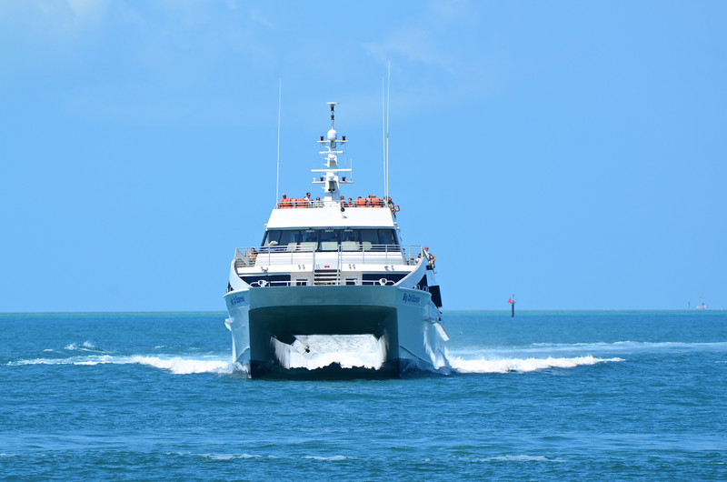 The 170' Key West Express catamaran makes round trips daily between Fort Myers Beach and Key West.