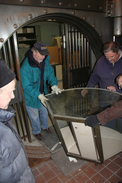 Cleaning Out Historical Society Museum, Tamaqua (2-23-2013)