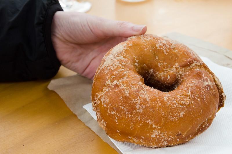 Dish 3: Organic donut from Organic Tassie Donuts