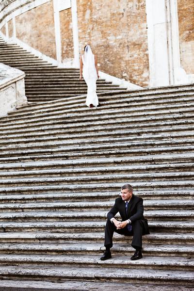 Rome, Italy: Wedding Portraits on the Spanish Steps.