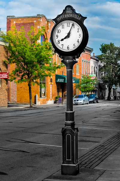 Antique Style Clock in Historic Jeffersonville - Indiana