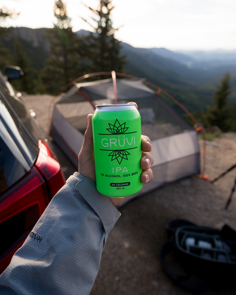 Lifestyle Product Photography | Get Gruvi Camping (Green)