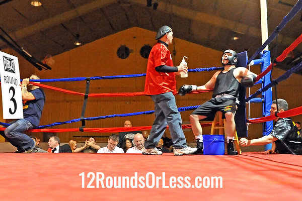 Bout 13 Steve Spinelli, Old Angle BC -vs- Brian Meyer, Zelma George/Empire Boxing, 200 lbs, Masters