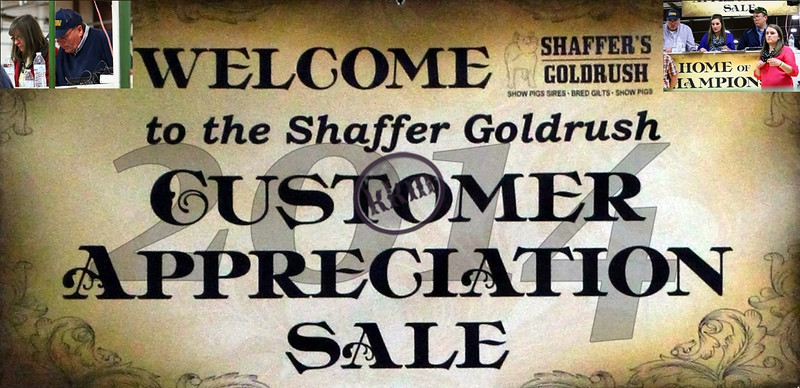 2014 Shaffer's GOLD RUSH Customer Appreciation Sale