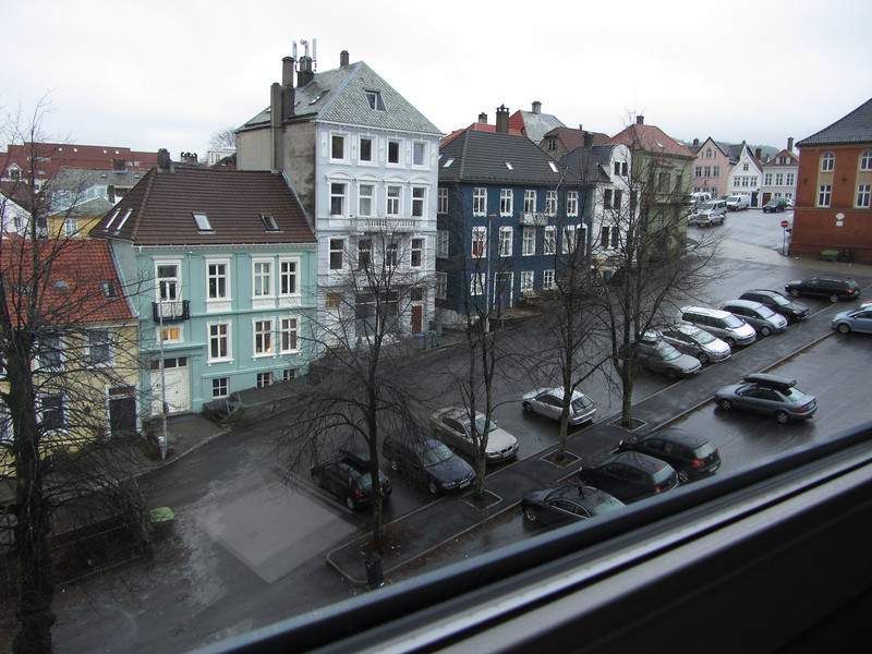 From the hotel window